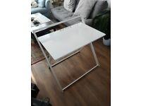 Argo White Folding Desk