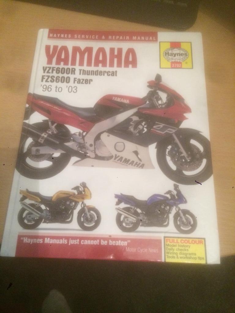 Haynes Manual Yamaha Yzf600r Fzs600 In Wolverhampton West Wiring Diagram