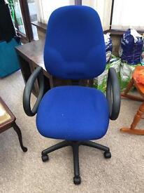 Adjustable desk chair on wheels