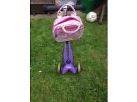 Purple Micro Scooter with Bag included