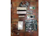 Job Lot Computer Parts RAM Graphics Card DVD CD Floppy Wireless Graphics Card PSU PC Wires Cables