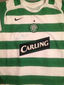 Signed Roy Keane Celtic jersey
