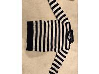 Reiss - Men's Medium Black & White Wool Jumper