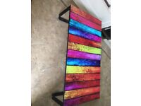 Coffee table, rectangular multi coloured