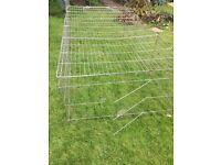 Extra large metal outdoors rabbit/guinea pig run