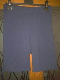 Marks and Spencer sports gym yoga shorts Blue Size 14