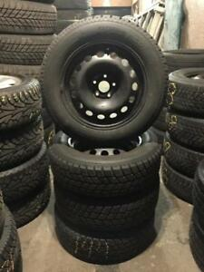 215 60R 16 HANKOOK IPIKE WINTER SNOW TIRES & RIMS 5X105 BOLT CHEVROLET CRUZE BUICK VERANO EXCELLENT SHAPE!