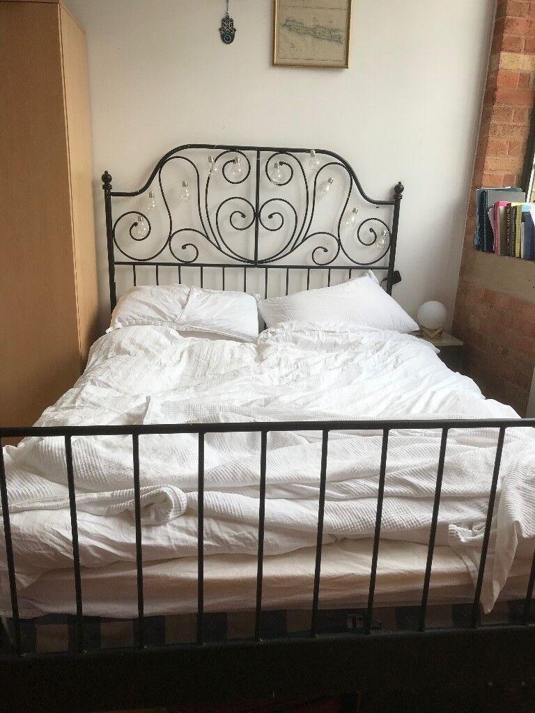 Ikea double bed frame - LEIRVIK, painted black | in Whitechapel ...