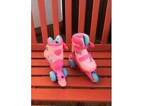 Girls early learning centre pink roller boots
