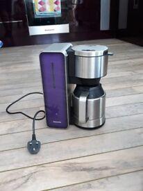 Panasonic purple and stainless steel filter coffee machine