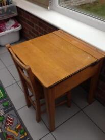Vintage children's school desk and chair