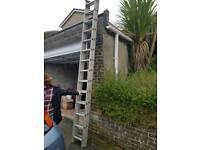 2 piece aluminium ladder set 7.5 metres