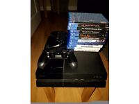 PlayStation 4 500GB with 10 games & 2 controllers - £325 ono