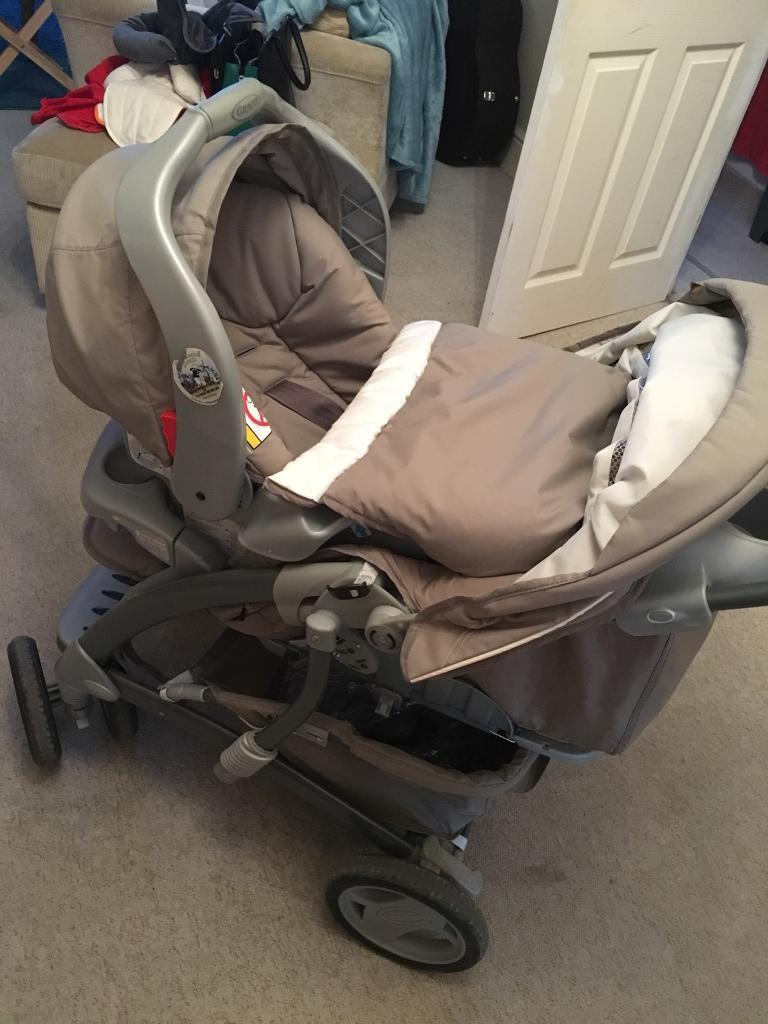 Grace Quattro Tour Deluxe Travel System Inc Car Seat Carrycot Stroller Base