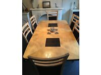 Extdable table and chairs from furniture Village