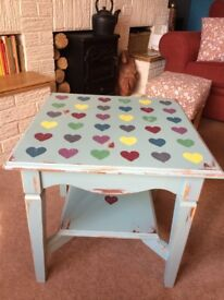 Hand painted side table.