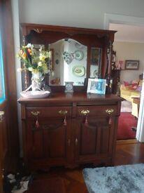 Wonderful Walnut Mirror back Chiffonier/Sideboard for loving or upcycling