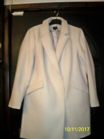 Ladies brand new, M & S, cream coat.