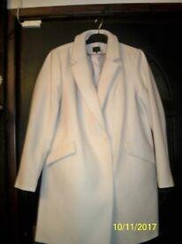 Ladies brand new, M & S, cream coat.