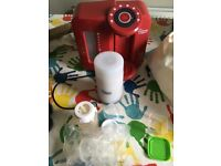 Tommee Tippee Perfect Prep and bottle warmer, Dr Brown steriliser and bottles, and weaning pots