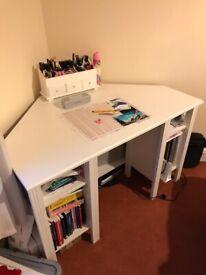 Ikea Corner Desk (White)
