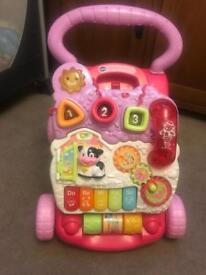 Vtec baby girl walker! Like new!!