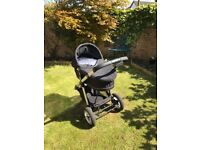 icandy pushchair with carry cot and accessories