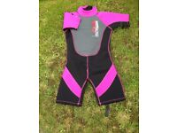 Young Girls Wet Suit