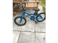 Great little kids blue mountain bike, Ridgeback MX 16 Terrain
