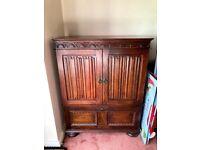 Dark Wood Carved Dresser/ Cabinet Sideboard