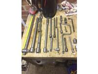 Ratchet/breaker bars/extension bars joblot