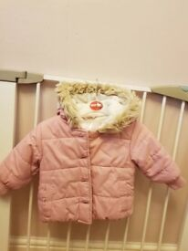 Baby girl's pink jacket.