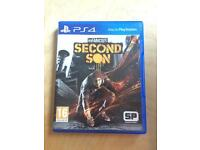 PlayStation 4 game (infamous second son)