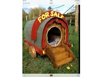 Quirky, unique dog kennel wagon, pet kennel, pets, cats, dogs etc