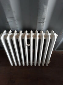 vintage cast iron radiator in 10 sections