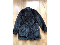 Zara faux fur coat size Medium