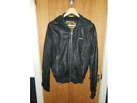 Superdry hooded leather Jacket Coat