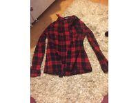 Misguided tartan shirt (size 4)