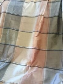 LARGE FRENCH HANDMADE SILK & SILK LINED CURTAINS