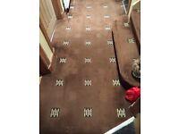 Hall/stair carpet brown