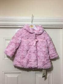 Baby girls pink coat BNWT