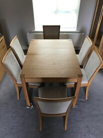 Arhus Extending Dining Table From 180cm To 230cm - Solid Oak - Wn217b + CHAIRS