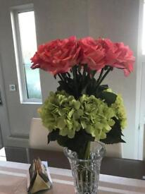 Artificial flowers pink roses