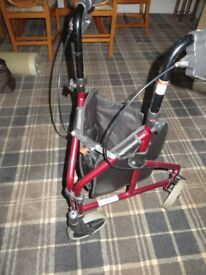 Rollator -3 Wheel lightweight with cable brakes