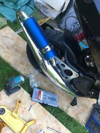 Gilera Runner piaggio typhoon pm tuning 55 exhaust