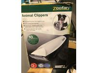 Boxed Zoofari Professional Pet Hair Trimmer- 10 piece set - Dog / Cat - All Animals