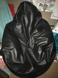 Large Faux Leather Bean Bag