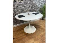 Contract Quality White Restaurant Pub Bar Bistro Café 1050mm Round Table