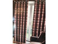 "3 sets of brand new Coloroll lined eyelet curtains. 66"" x 54"" brown. RRP £99 a set"