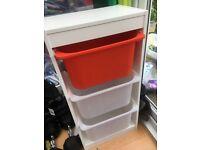 TROFAST, storage ikea white unit with trofast storage boxes,